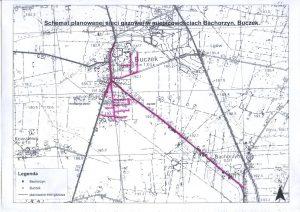 mapy przebiegu linii gazowych w buczku