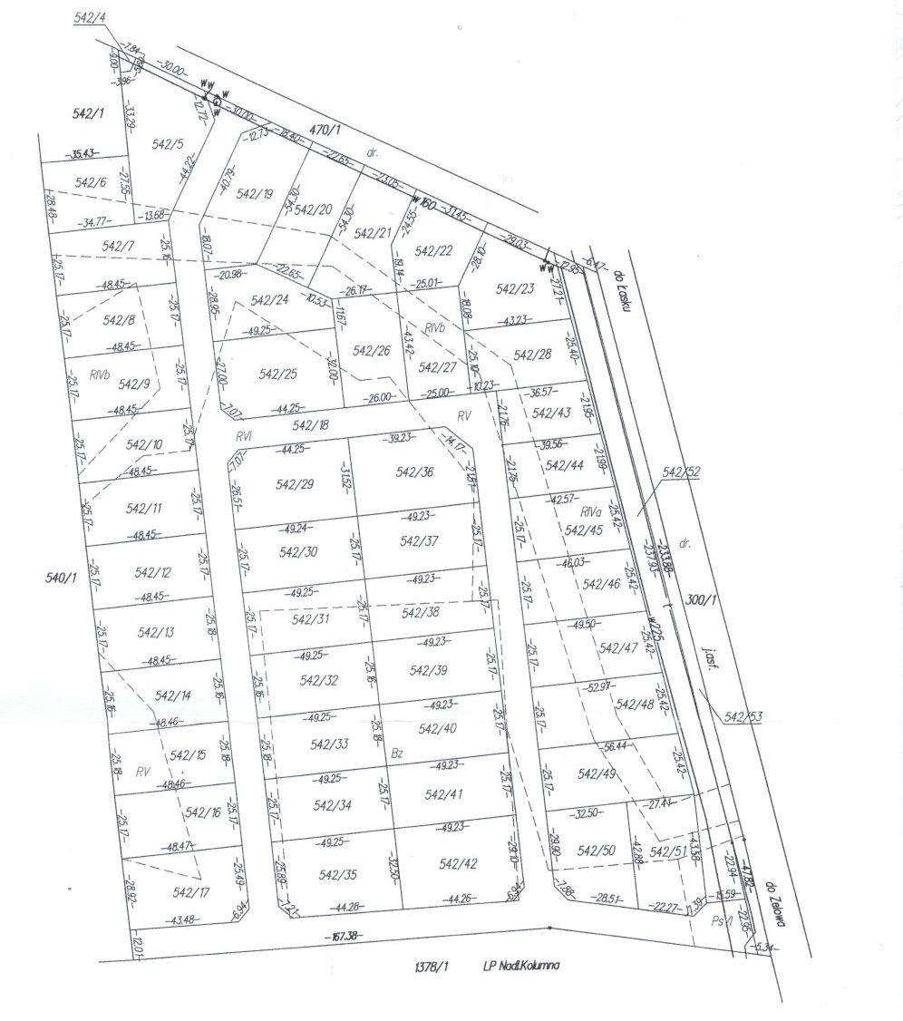 Mapa położenia działek