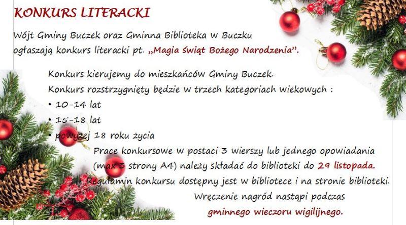 Konkurs Literacki Gmina Buczek