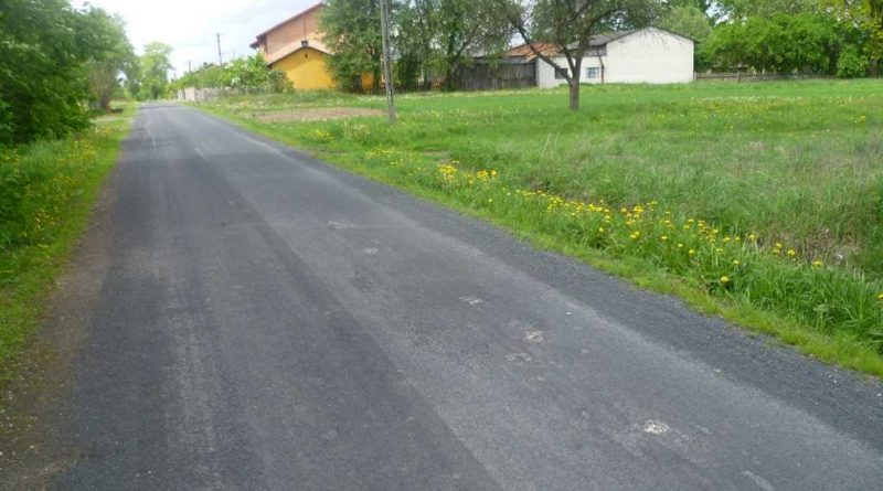 remontowana droga w gminie Buczek