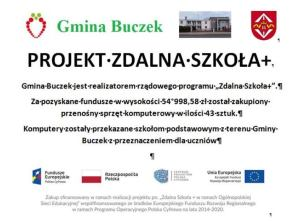 plakat zdalna szkoła plus