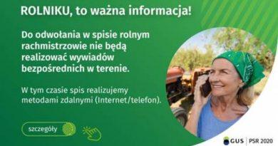 komunkat GUS o spisie rolnym