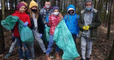 sprżątanie lasu w Buczku