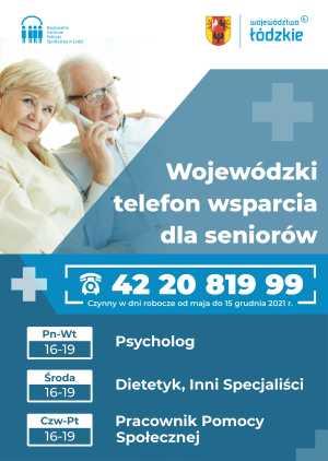 plakat dla seniorów