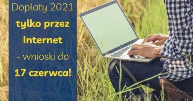 Ważna informacja ARiMR: dopłaty w 2021r. tylko przez Internet – wnioski do 17 czerwca!