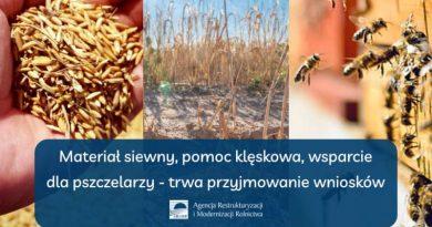 plakat wsparcie dla rolników