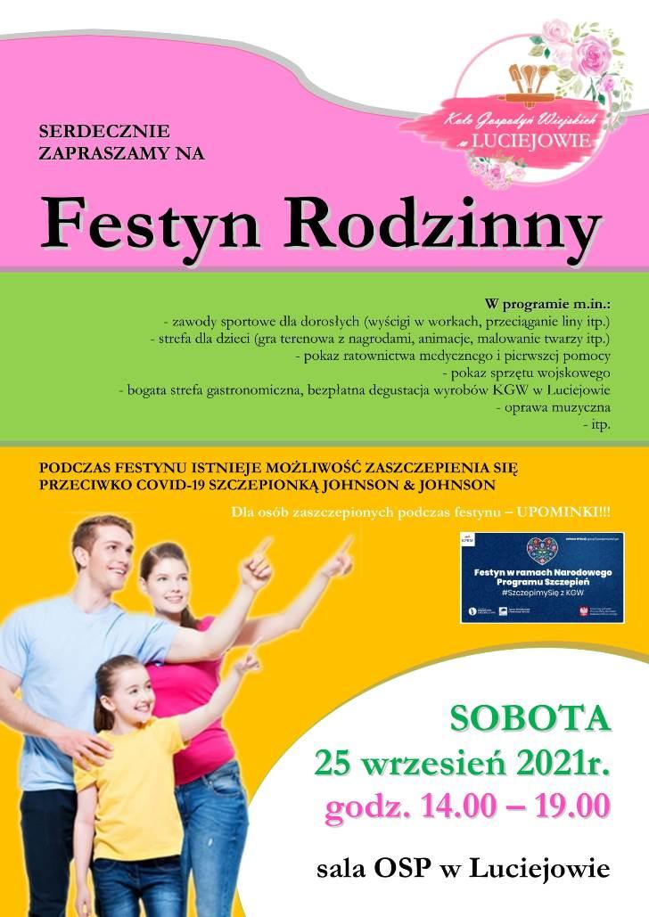 plakat festynu w Luciejowie