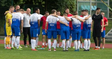 zawodnicy Orkana Buczek na meczu